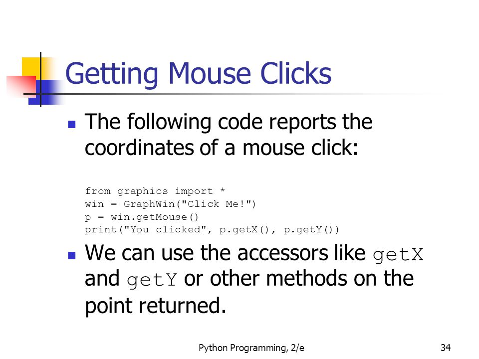 Getting Mouse Clicks