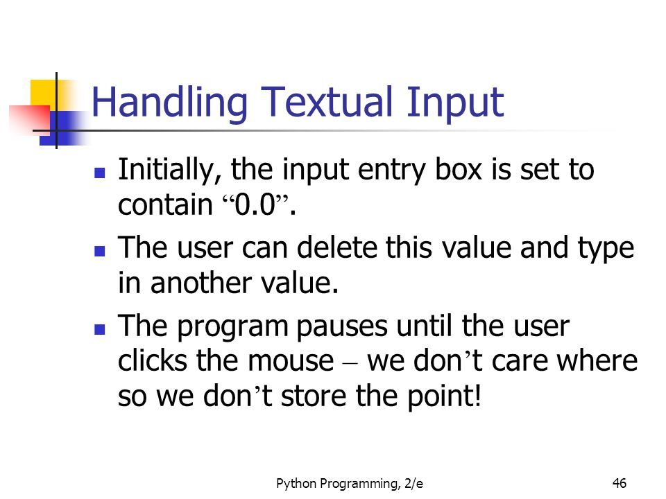 Handling Textual Input