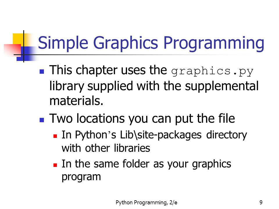 Simple Graphics Programming