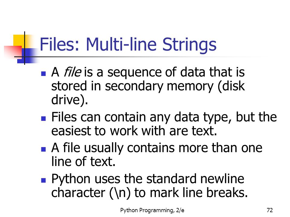 Files: Multi-line Strings