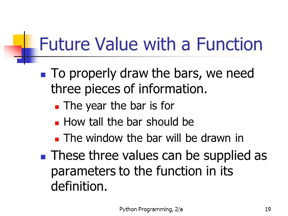 Future Value with a Function