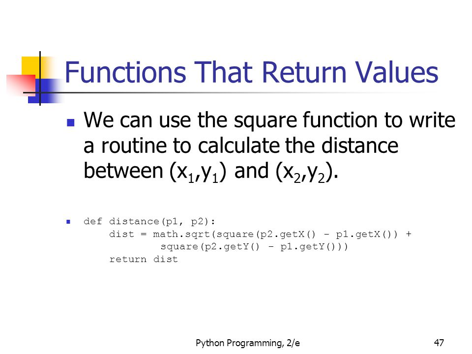 Functions That Return Values