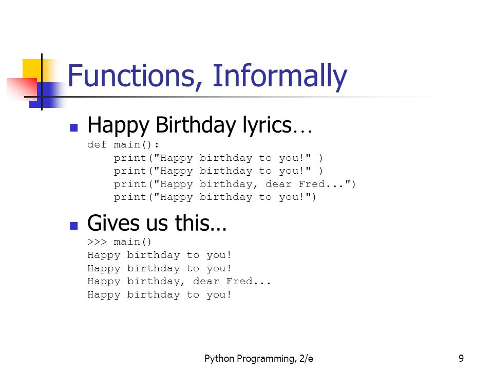 Functions, Informally