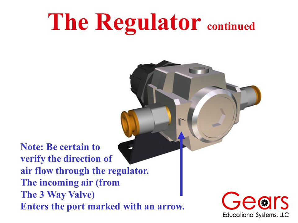 The Regulator continued