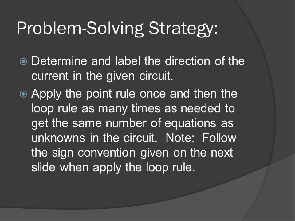 Problem-Solving Strategy: