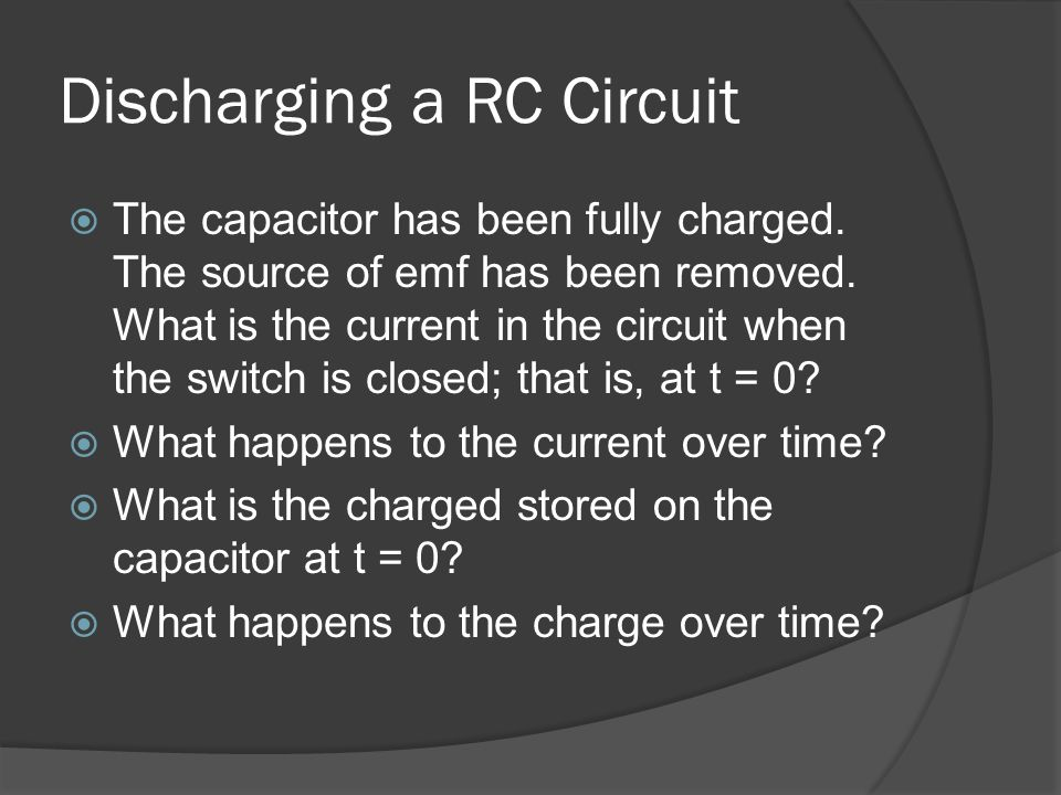 Discharging a RC Circuit