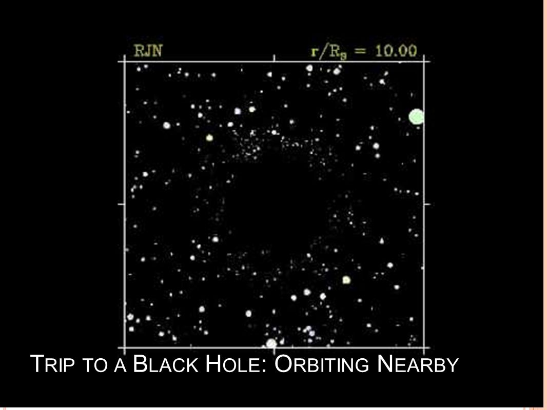 Trip to a Black Hole: Orbiting Nearby