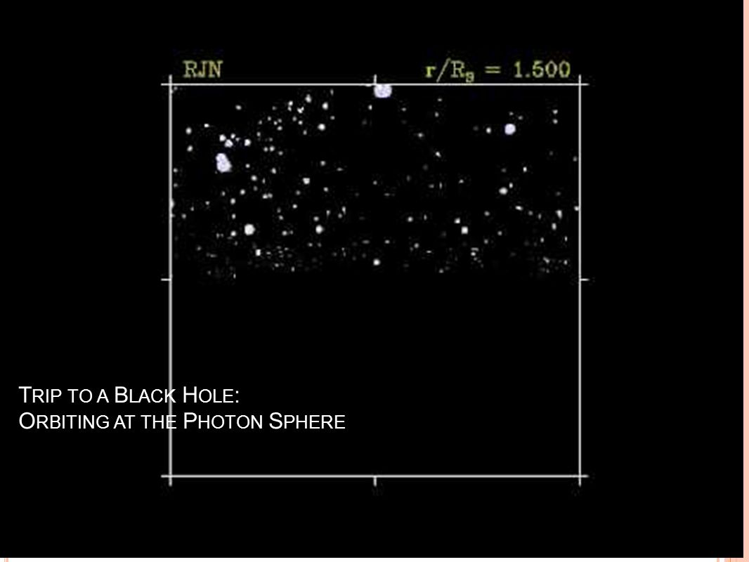 Trip to a Black Hole: Orbiting at the Photon Sphere
