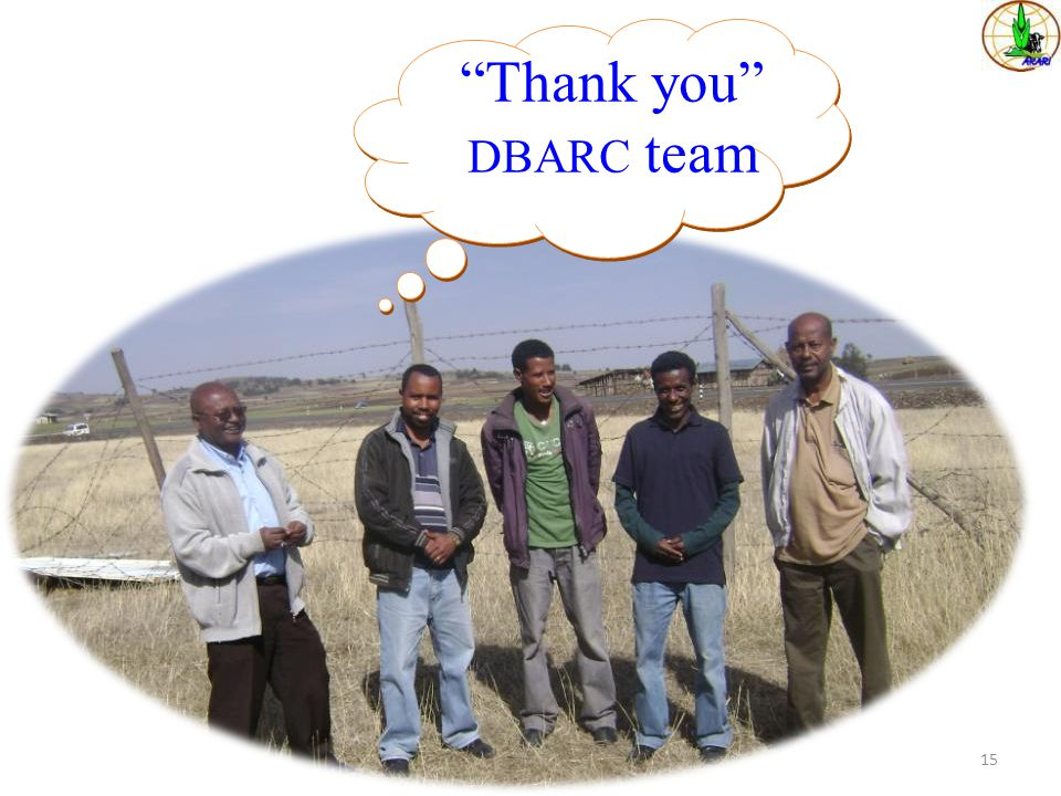 Thank you DBARC team