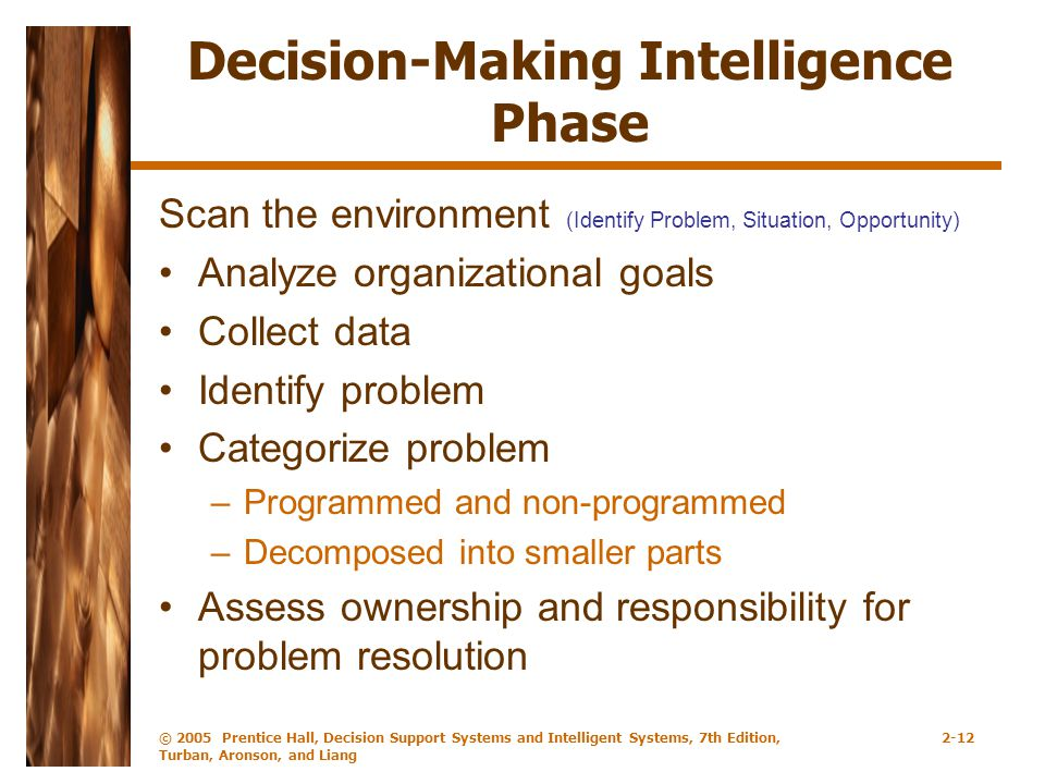 Decision-Making Intelligence Phase