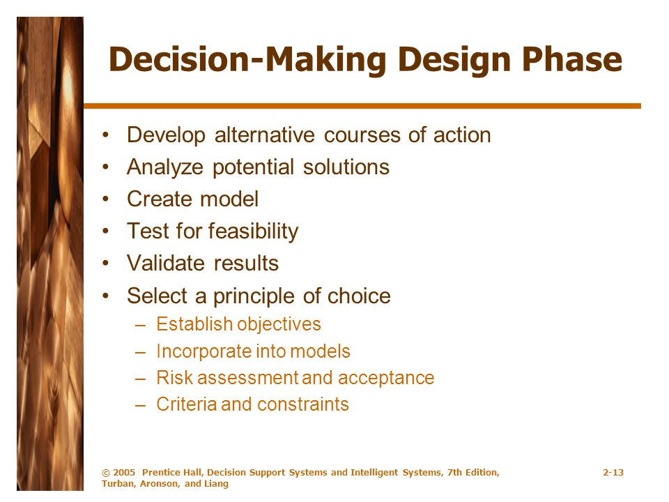 Decision-Making Design Phase
