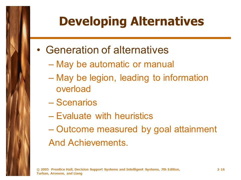 Developing Alternatives