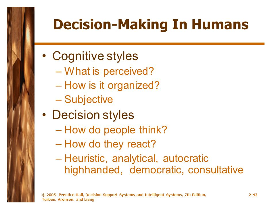 Decision-Making In Humans