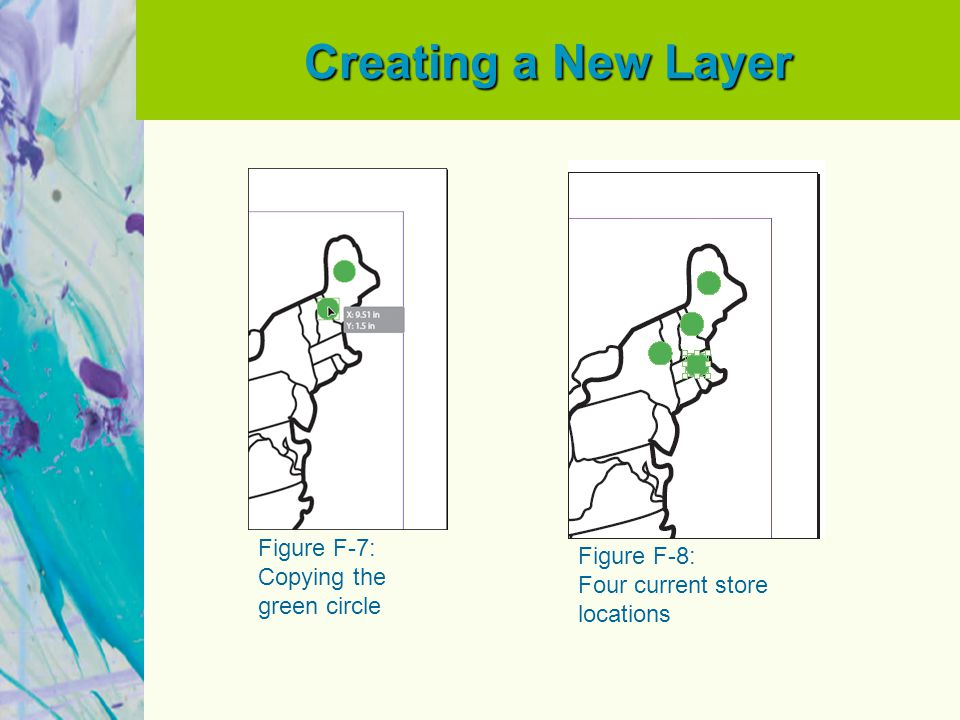 Creating a New Layer Figure F-7: Copying the green circle Figure F-8: