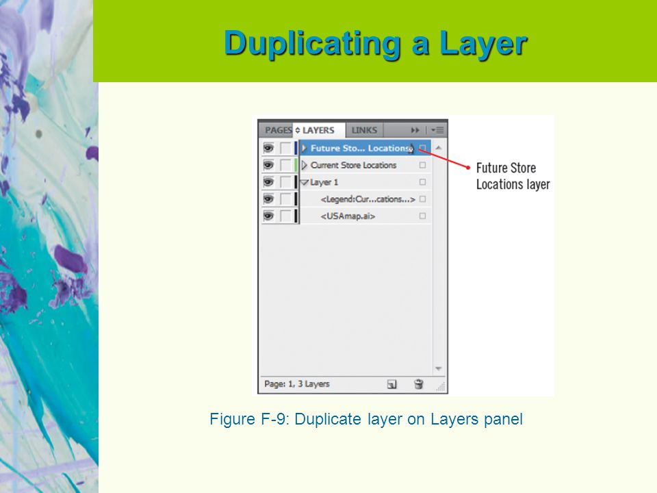 Duplicating a Layer Figure F-9: Duplicate layer on Layers panel
