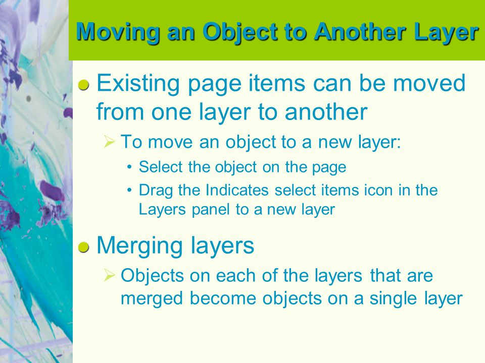 Moving an Object to Another Layer