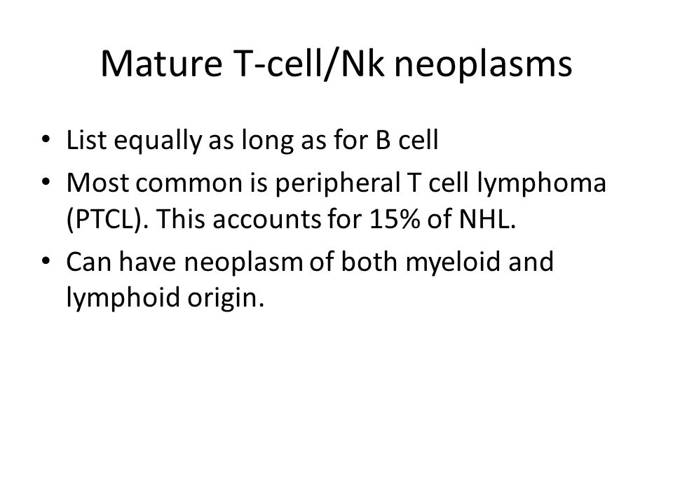 Mature T-cell/Nk neoplasms