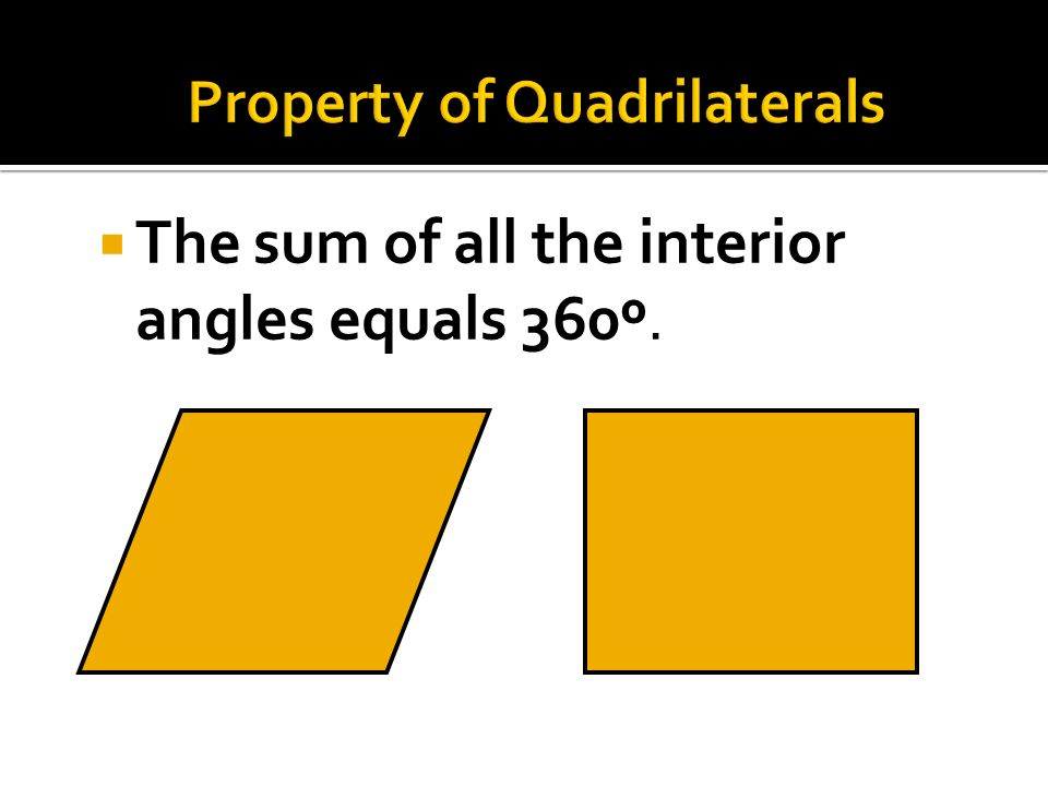 Property of Quadrilaterals
