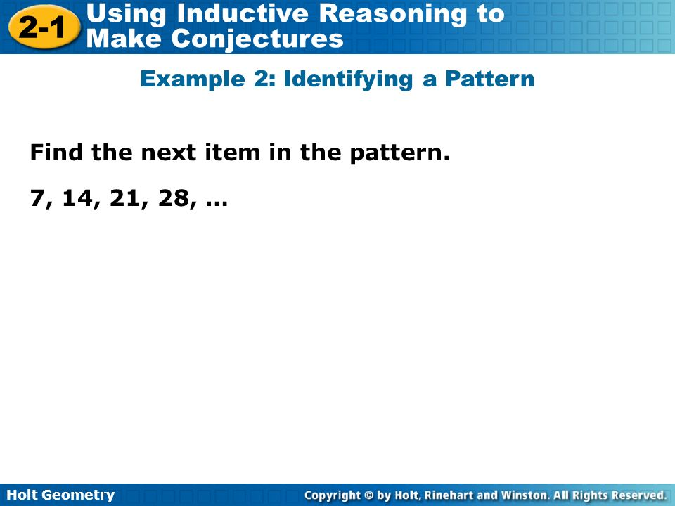 Example 2: Identifying a Pattern