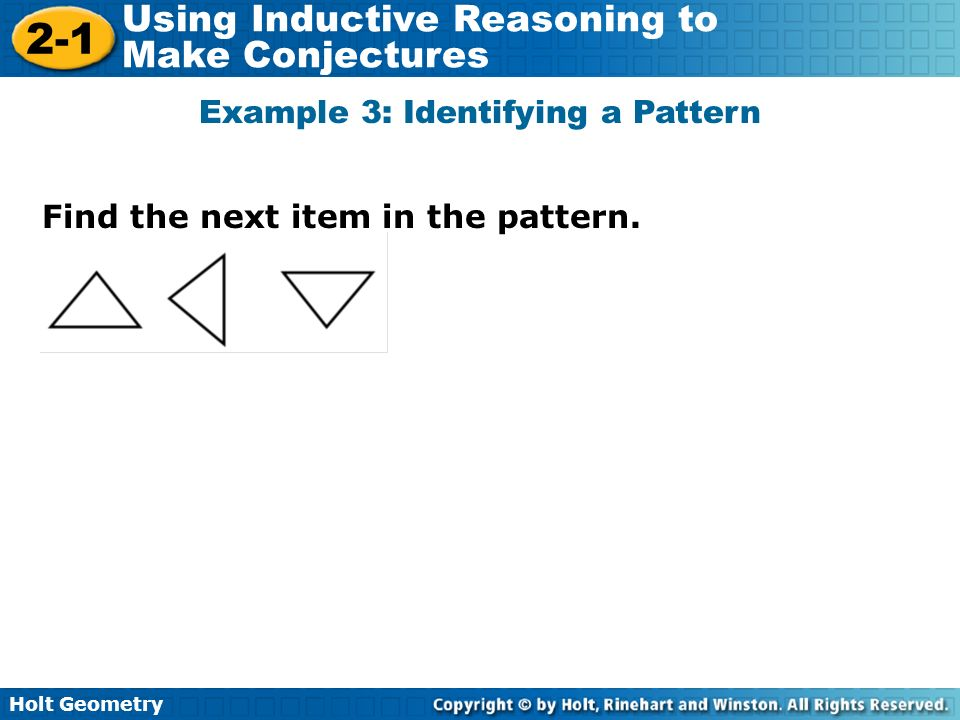 Example 3: Identifying a Pattern
