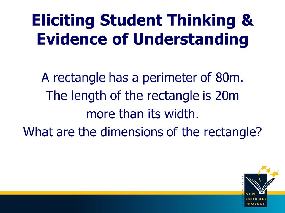 Eliciting Student Thinking & Evidence of Understanding