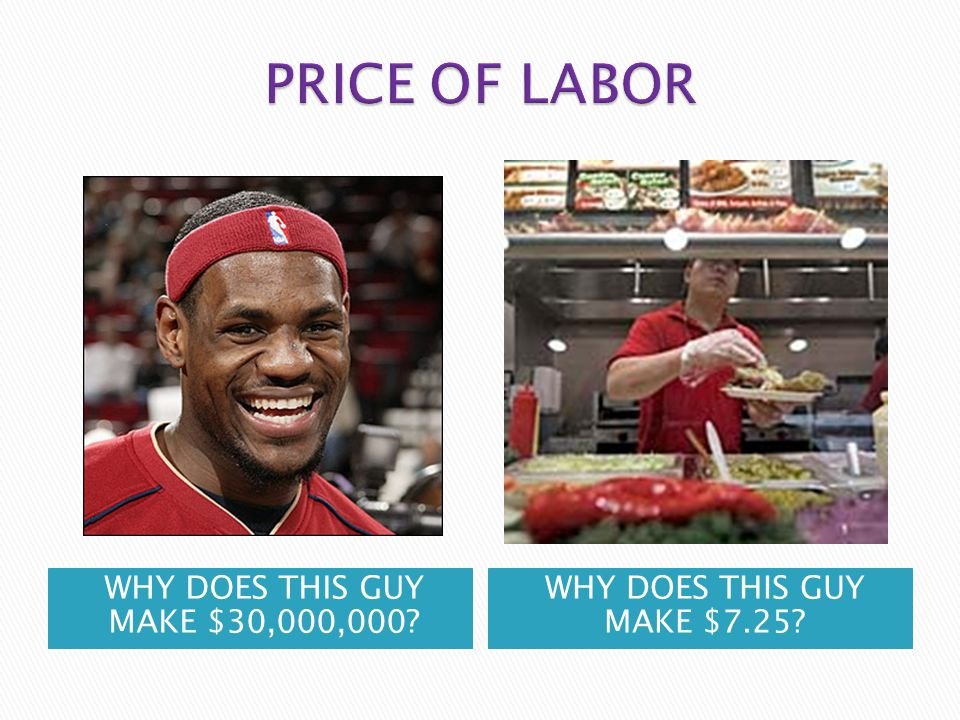 PRICE OF LABOR WHY DOES THIS GUY MAKE $30,000,000