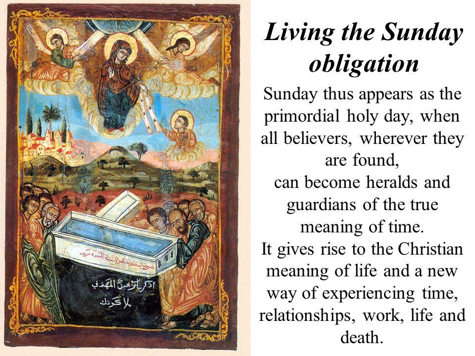 Living the Sunday obligation