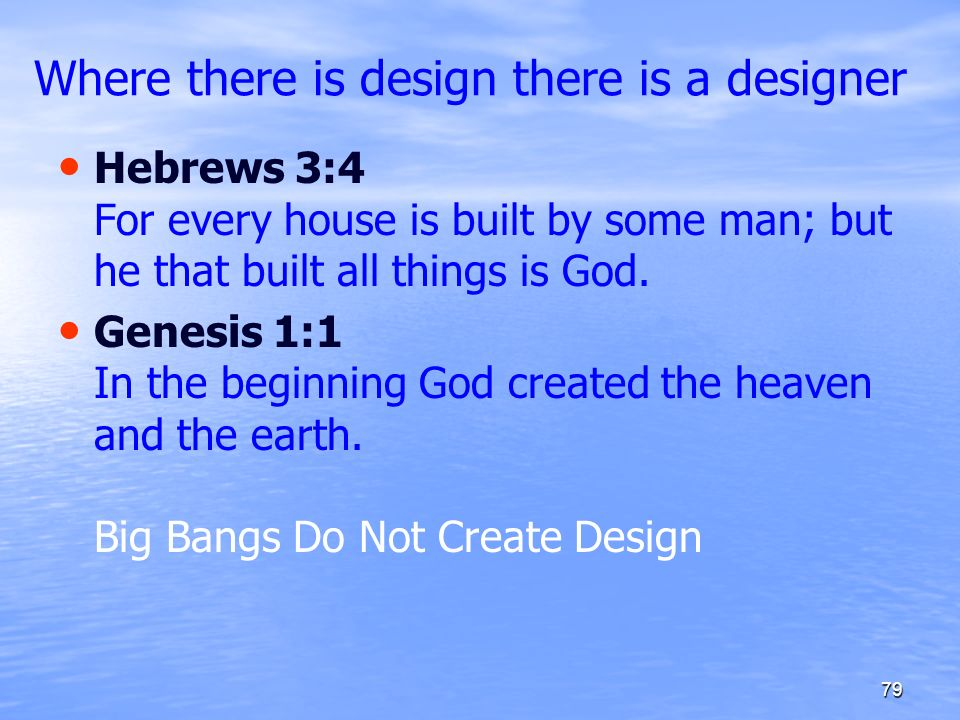 Where there is design there is a designer