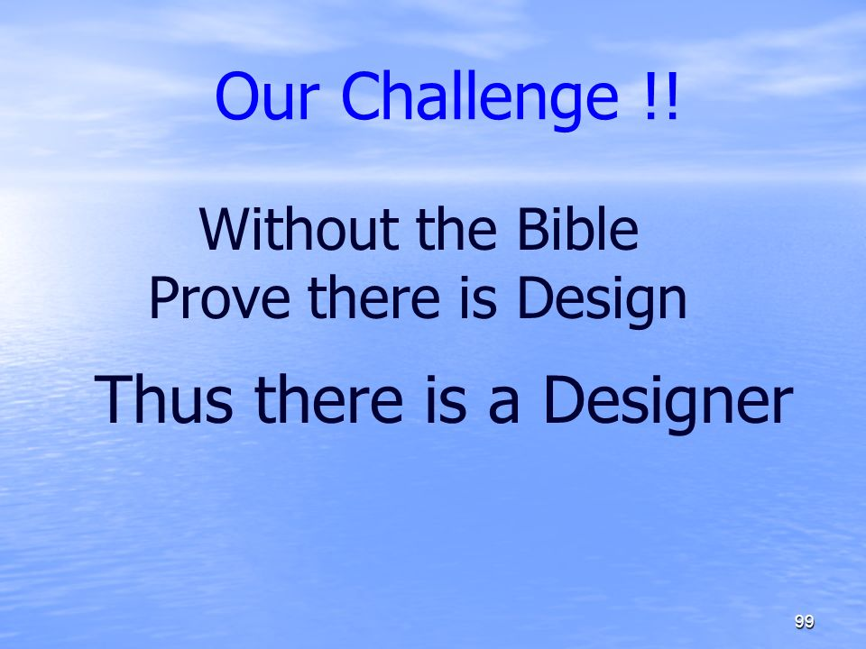 Thus there is a Designer