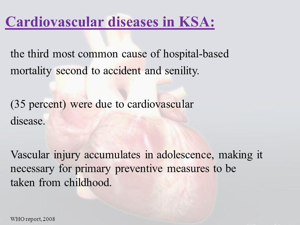 Cardiovascular diseases in KSA: