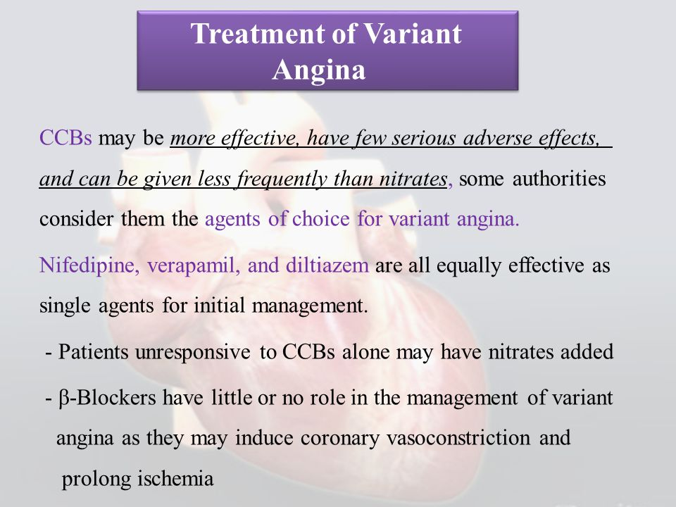 Treatment of Variant Angina