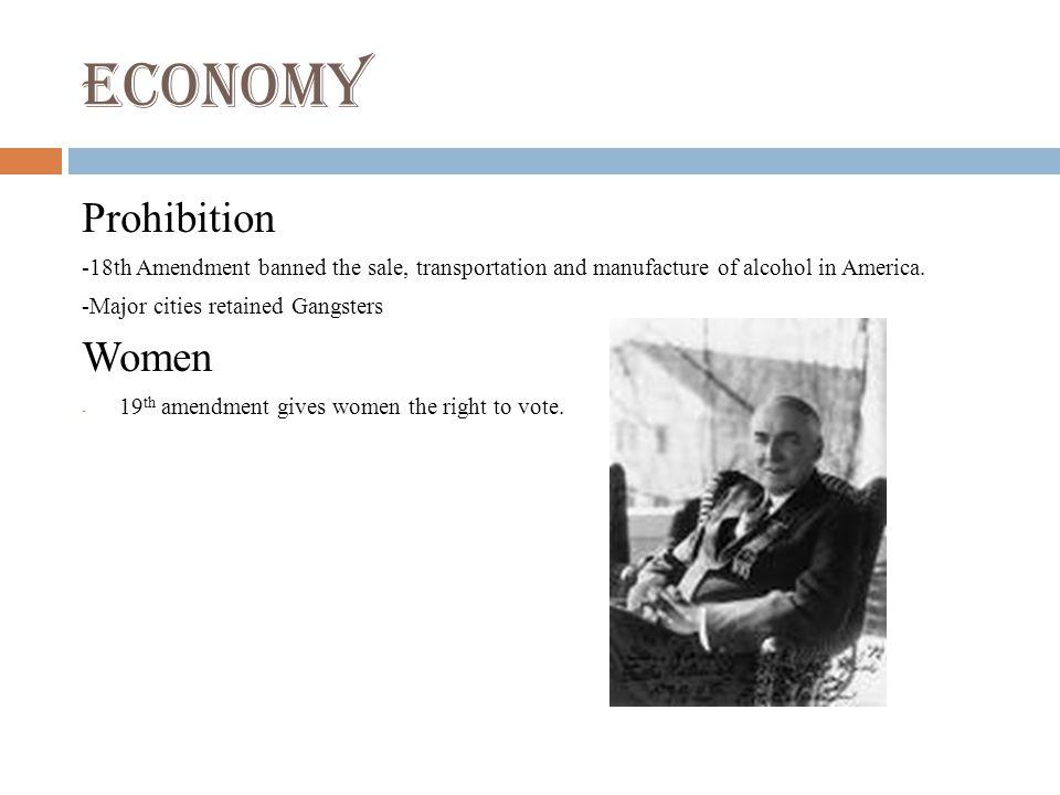 Economy Prohibition Women