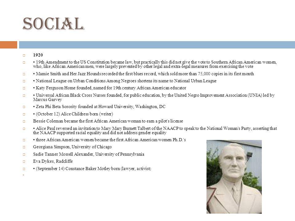 Social 1920.