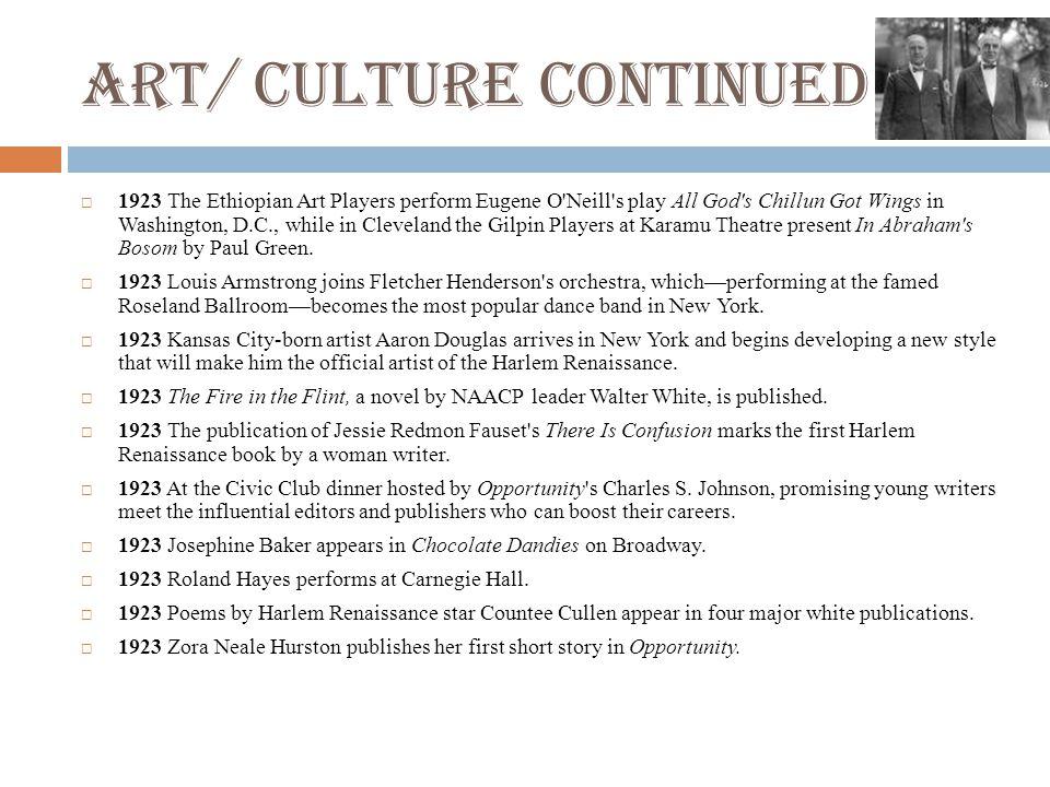 Art/ Culture Continued