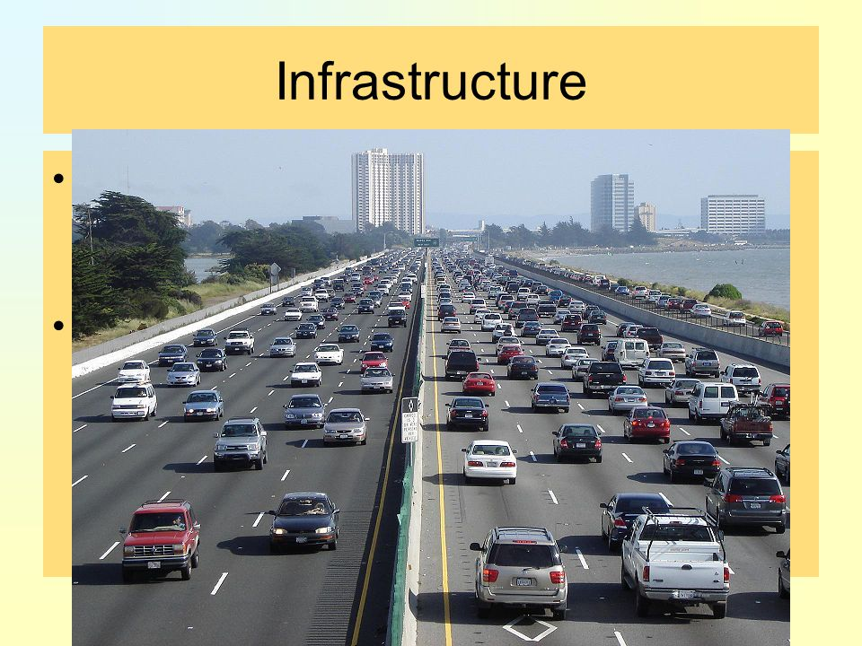 Infrastructure the basic physical and organizational structures needed for the operation of a society or enterprise.