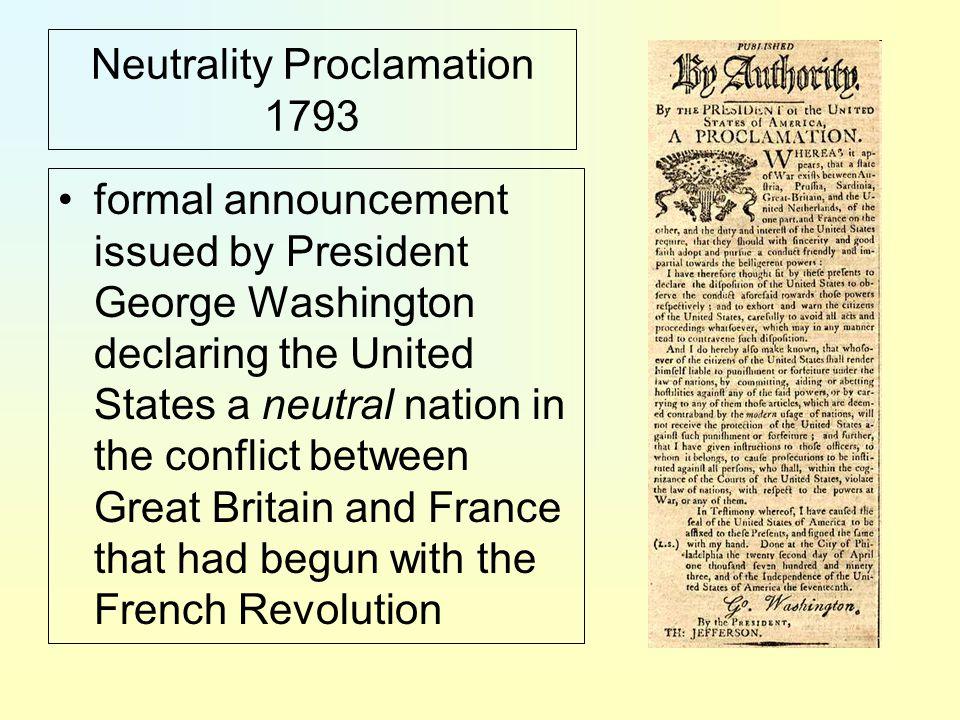 Neutrality Proclamation 1793