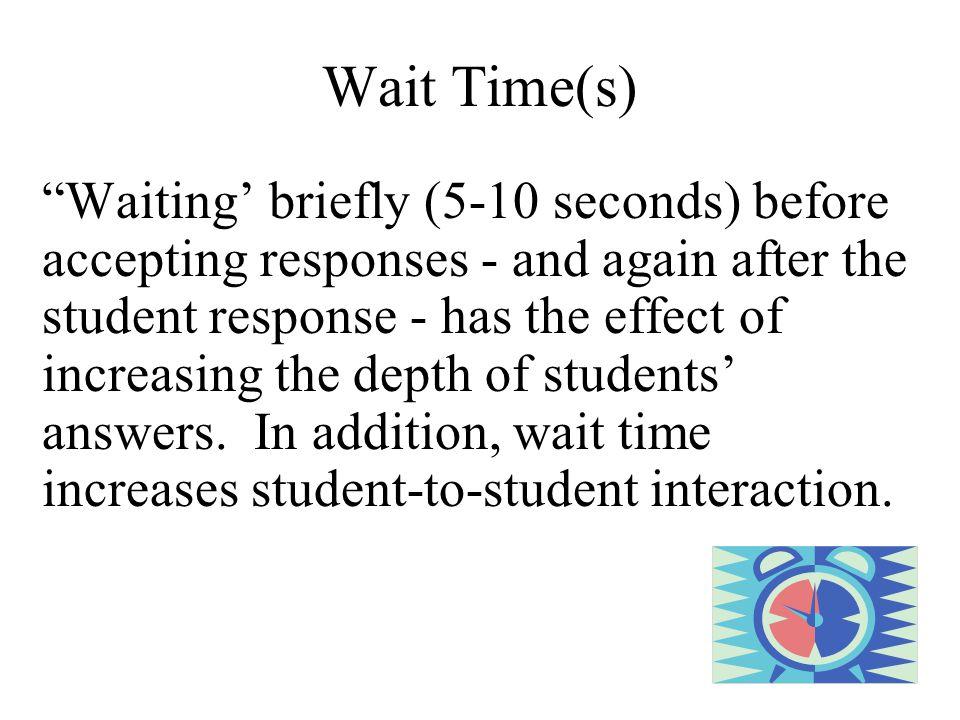 Wait Time(s)