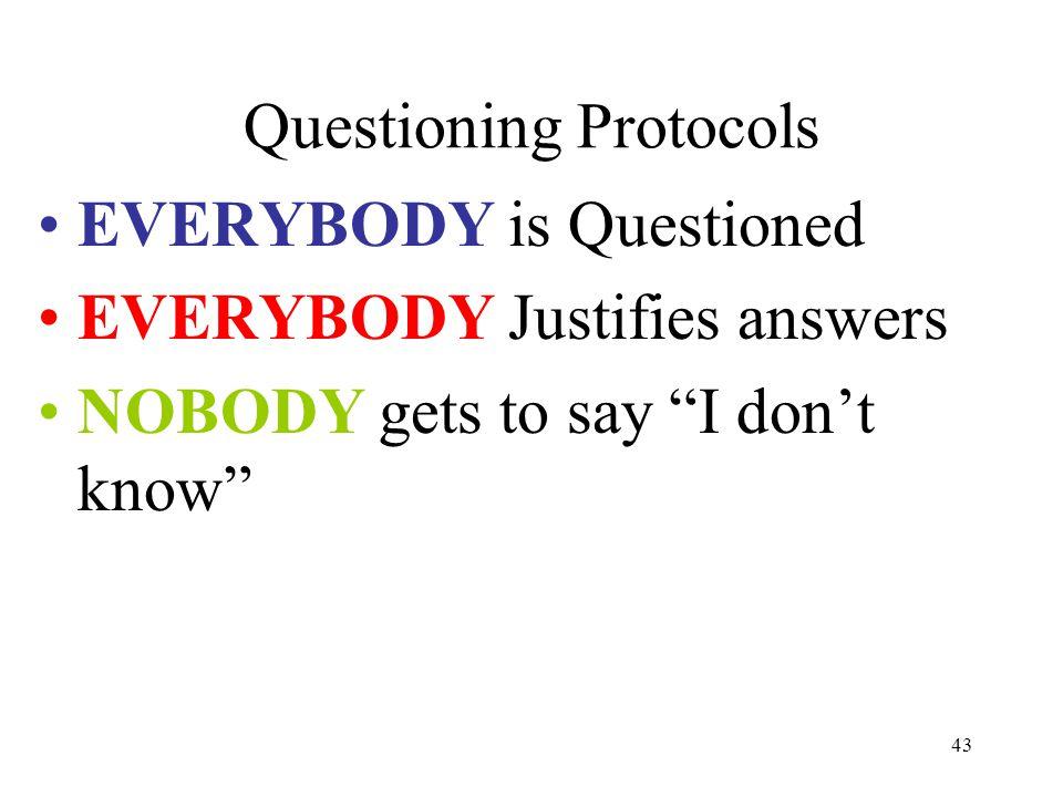 Questioning Protocols