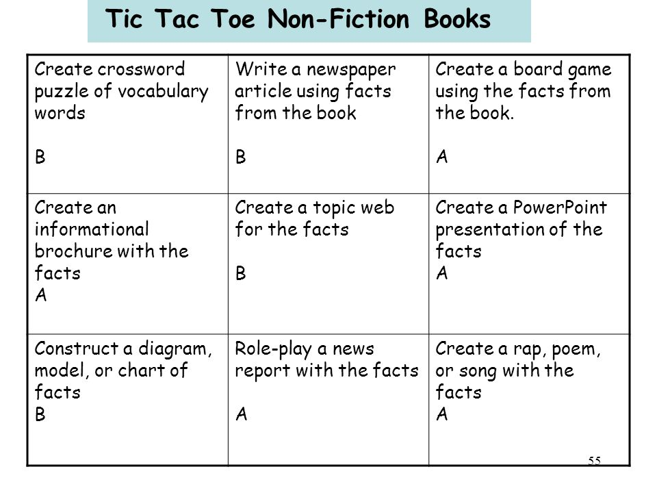 Tic Tac Toe Non-Fiction Books
