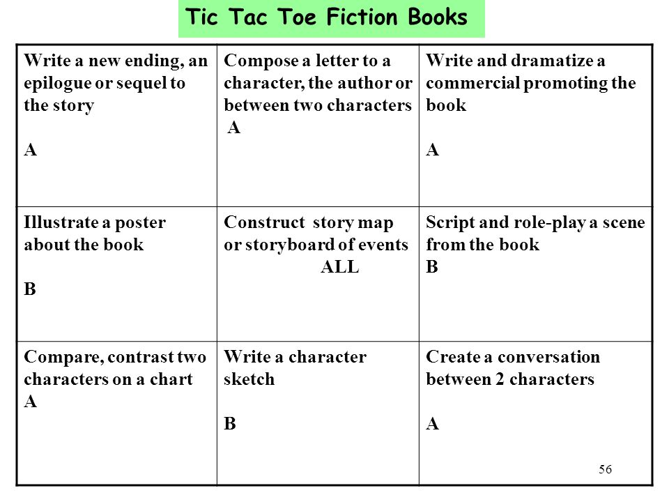 Tic Tac Toe Fiction Books