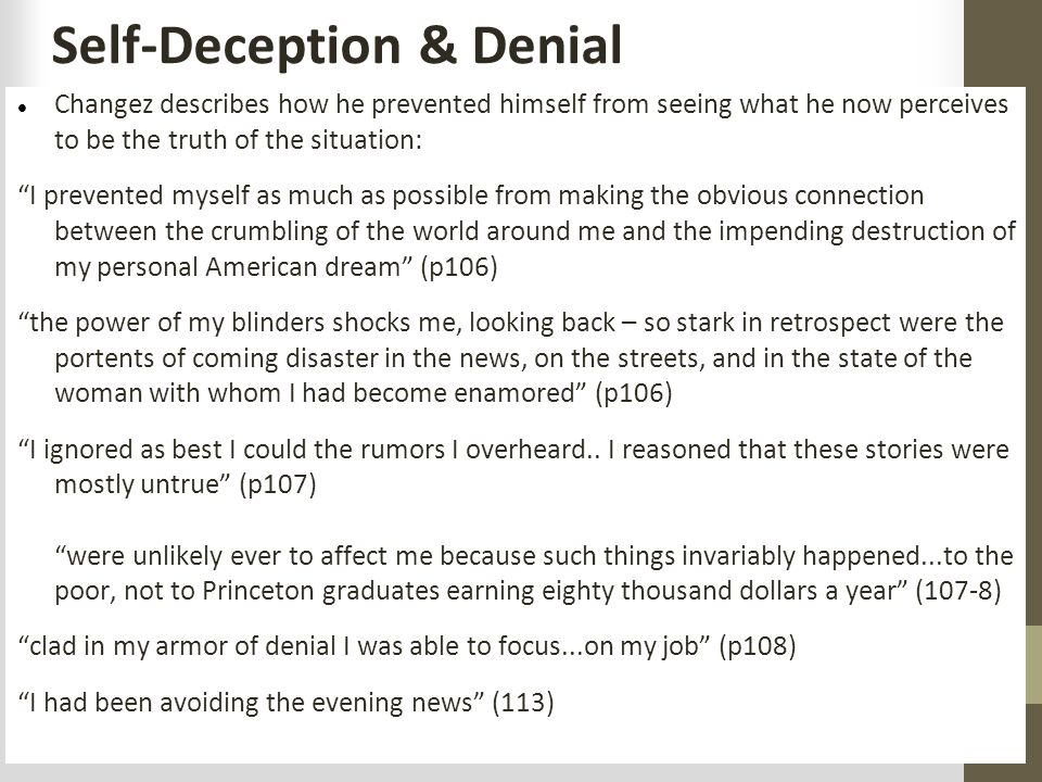 Self-Deception & Denial
