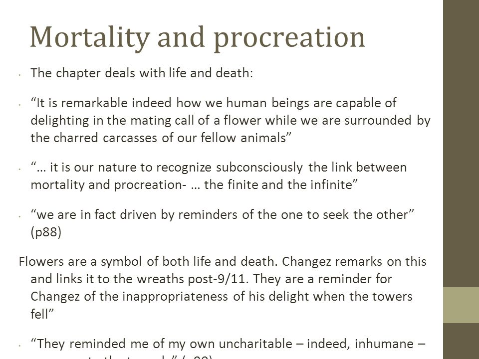 Mortality and procreation