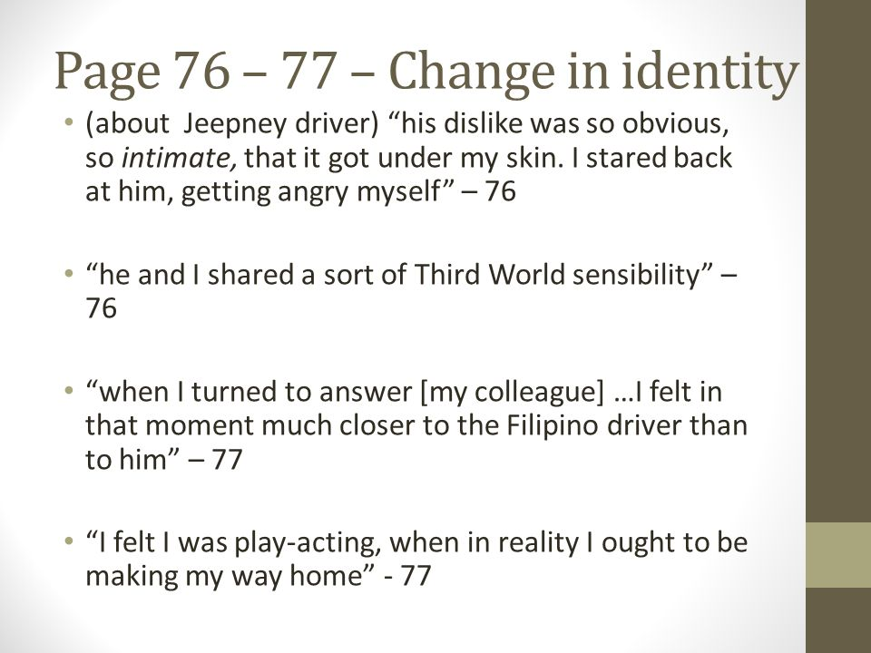 Page 76 – 77 – Change in identity