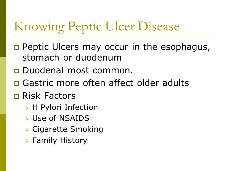 Knowing Peptic Ulcer Disease
