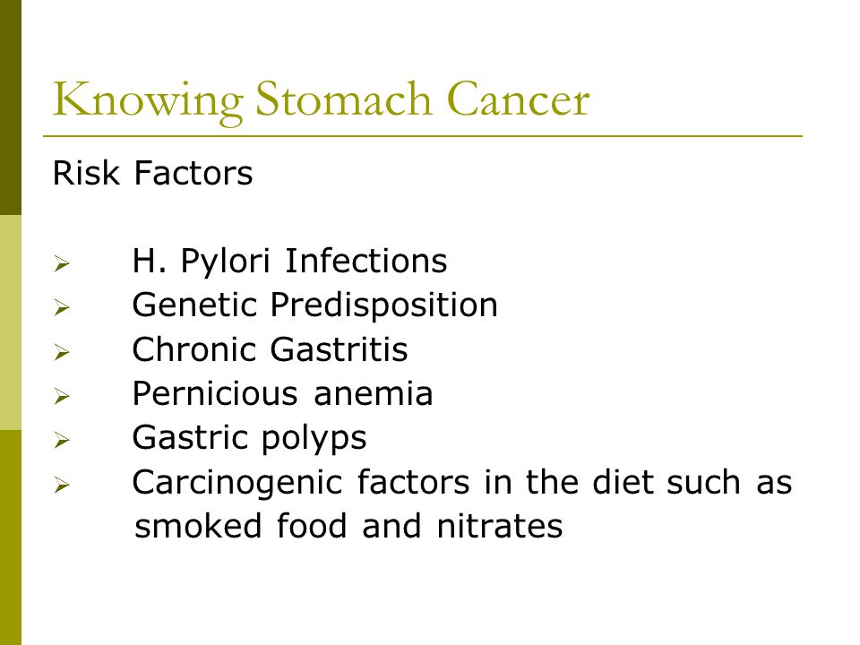 Knowing Stomach Cancer