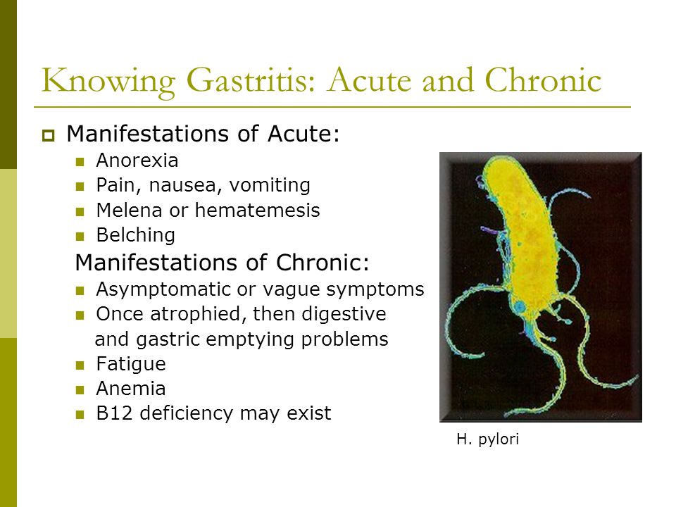 Knowing Gastritis: Acute and Chronic