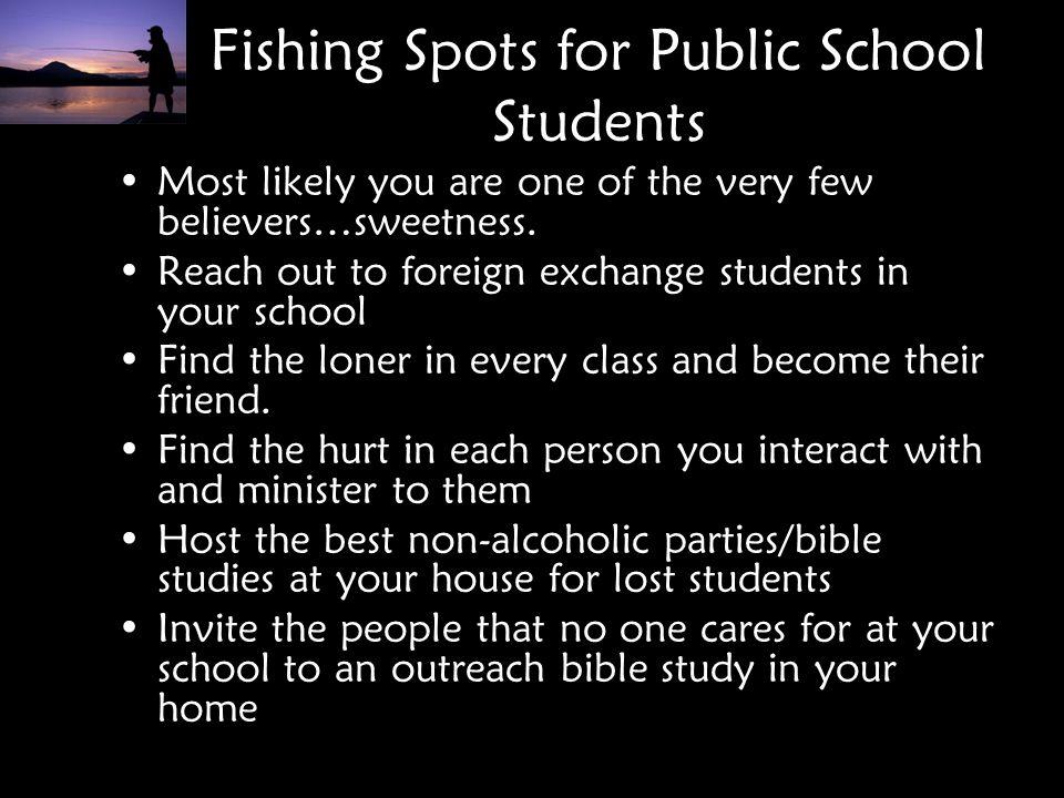 Fishing Spots for Public School Students