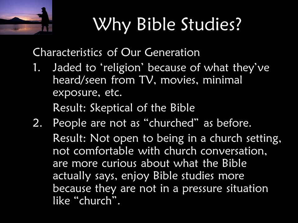 Why Bible Studies Characteristics of Our Generation