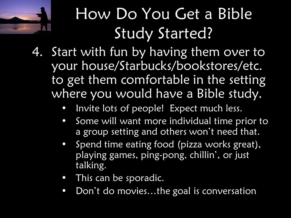 How Do You Get a Bible Study Started