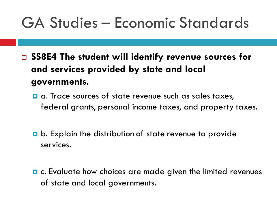 GA Studies – Economic Standards